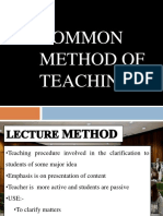 Common Method of Teaching