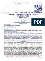 USING THE GENETIC ALGORITHM TO OPTIMIZE LASER WELDING PARAMETERS FOR MARTENSITIC STAINLESS STEEL