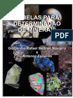 Tabela Determinação de Minerais 2018