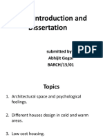 Project Introduction and Dissertation 2