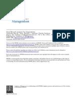 Social Network Analysis for Organization