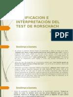 Codificacion e Interpretación Del Test de Rorschach