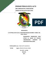 m - 112 La Estimulacion Con La Grafomotricidad en Niños y Niñas Del Nivel Inicial