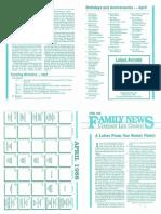 Grant Layman - April 1988 Family News Re. Nate Morales