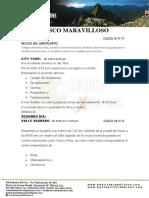 Cusco Maravilloso Michel 5d4n Con Los Cambios Indicados