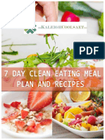 7 Day Clean Eating Meal Plan and Recipes 3