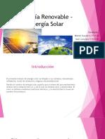 Energía Renovable – Energía Solar