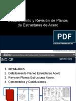 Revisión de plano de estructura de acero