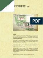 Le Corbusier Desarrollo de La Doble Altura Como Mecanismo de Orden 1920 - 1930