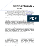 A Scalable Multicasting With Cache Consistency Maintenance in Manet (1)
