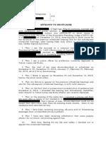 Affidavit to Show Cause
