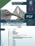 Estática y dinámica relacionados con elementos estructurales