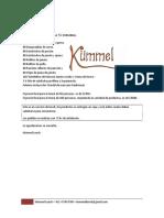 Presupuesto Agosto 2013 50 Personas SENCILLO