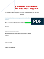 Accounting Principles 7Th Canadian Edition Volume 1 by Jerry J. Weygandt