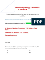 A History of Modern Psychology 11th Edition – Test Bank