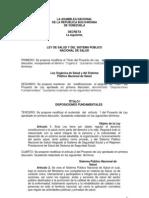 LEY DE SALUD Y DEL SISTEMA PÚBLICO