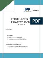 Formulación de Proyecto Social