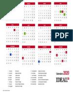 Calendario Laboral Landscape Lorca 2020