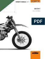 2017 Ktm 350 Exc-f Xcf-w Usuario Maual