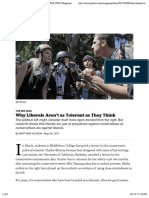 Hutson_Why Liberals Aren't as Tolerant as They Think - POLITICO Magazine