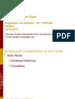 Aula 01 - Introdução á Engenharia de Software
