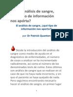 Quanten, Patrick - El análisis de sangre