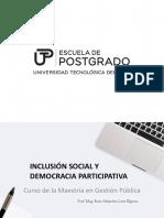 Inclusión Social Demo Participativa II