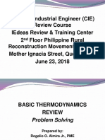 Thermo Problem Solving June 23 2018