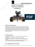 Smart car manual ultrasonic obstacle avoidance