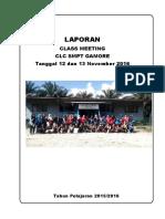 Laporan Class Metting