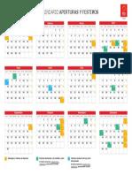 Calendario escolar 2019-2010