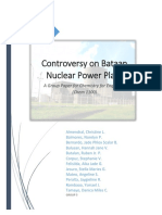 Controversy on Bataan Nuclear Power Plant
