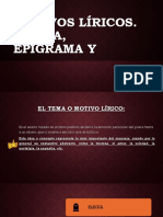 Motivos Líricos- Elegía, Etc