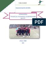 Bases Del Campeonato Deportivo de Mini Futbol Hu