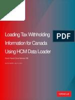 Loading Tax Credit Information for Canada Using HCM Data Loader