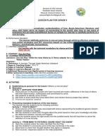 Lesson Plan English 9 Tela