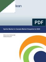 Spirits Market in Canada-Market Snapshot to 2020