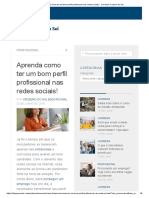 Aprenda Como Ter Um Bom Perfil Profissional Nas Redes Sociais! - Carreiras Cruzeiro Do Sul