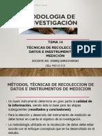 CLASES N°14 - TÉCNICAS DE RECOLECCIÓN DE DATOS E INESTRUMENTOS DE MEDICIÓN