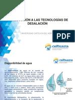 Introducción a las tecnologías de desalación