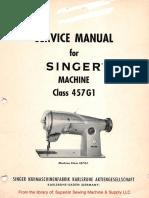 Singer 457G1 Service Manual