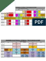 Horarios 2do semestre - Eléctrica, Telecom y Potencia 2019