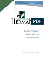 Protocolo de Bioseguridad Aplicado a Manicuristas