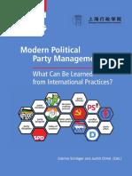Gestión de partidos políticos modernos