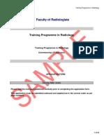 Sample Radiology Application Form