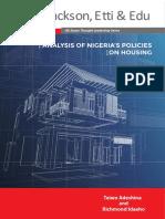 Analysis of Nigeria's Housing Policies