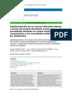 Implementación de Un Recurso Educativo Abierto
