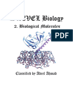 CIE A Level Biology - Biological Molecules Classified