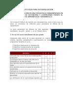 Formato Guía Para Autoevaluación