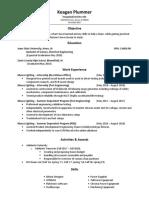 keagan plummer resume